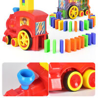 60pcs Plastic Domino Train Toy Set Rally Electric Model Kid Gift Multicolored UK