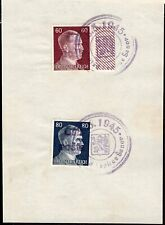 1221 CZECHOSLOVAKIA LOCAL POST TEPLICE END OF WWII SPECIAL CANCEL STAMP ON PAPER
