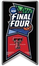 2019 MENS FINAL FOUR PIN TEXAS TECH RED RAIDERS BASKETBALL PROGRAM IN EBAY STORE