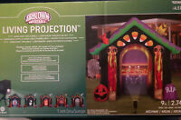 Gemmy Halloween Airblown Inflatable Living Projection Archway Blow Up Yard Decor