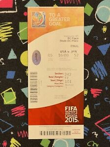 2015 FIFA WOMENS WORLD CUP FINAL TICKET STUB USA UNITED STATES SOCCER CHAMPS