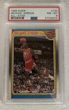 """1988 Fleer 120 All-Star Michael Jordan HOF PSA 8 NM-MT. """"Newly Slabbed"""""""