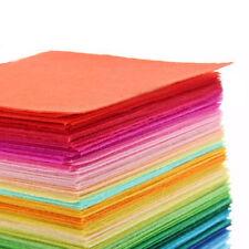 40PCS 15X15cm Soft Felt Fabric Square Sheet Assorted Color for DIY Crafts Hot