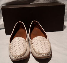 .com Bottega Veneta leather nappa intrecciato white loafers box care instruction