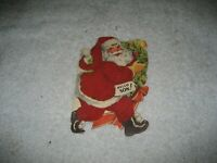 Vintage felt Santa Claus Hello Son Christmas card unused