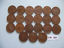 IRELAND/EIRE. 21 COINS@ ONE PENNY (1971-2000)#CIR409