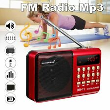 Portable Mini LCD FM Radio Stereo Speaker Rechargeable MP3 Player USB  New