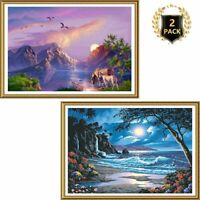 None Dimensions 91185 Moonlit Paradise Paint by Numbers for Adults 20 W x 16 L