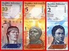 ** VENEZUELA - Série complète 2 + 5 + 10 + 20 + 50 BOLIVARES UNC **