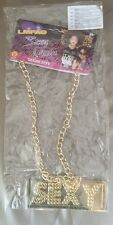 LMFAO Adult Sexy Costume Jewelry Gold Chain Necklace Licensed Rubies New