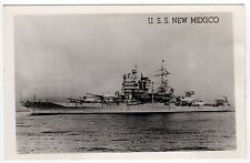 USS NEW MEXICO RPPC Real Photo Postcard BB-40 Battleship MILITARY Navy USN Naval
