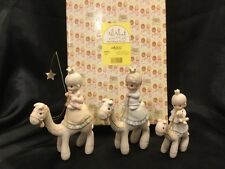 Precious Moments-MINI Nativity They Followed The Star 3 Kings On Camels 108243