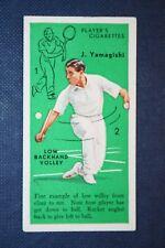 Tennis  Yamagishi    Japan      Original 1930's Vintage Action Card