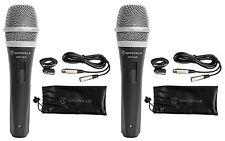 2 Rockville RMP-XLR Dynamic Cardiod Pro Microphones + 10' XLR Cables+2 Clips