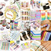 Roll Washi Masking Tape Klebeband Klebebänder DIY Aufkleber Papier Decor Paket