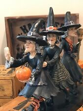 Halloween Witch Trio Witches on the March Sculpture Sweet Street NWT
