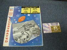 Aug 17, 1963 Browns vs Colts & Lions vs Giants Double Heade Program Ticket Stub