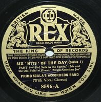 """10"""" 78 - Primo Scala's Accordeon Band - Six Hits of the Day Series 1 - Rex 8596"""