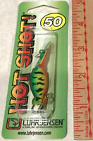 "LUHR JENSEN HOT SHOT SIZE 50 ""FIRE TIGER"" NON RATTLE FISHING PLUG LURE RARE NEW"