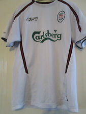 Liverpool LFC white one mans 2003-2004 Away Football Shirt Size small /40041