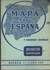 Mapa de España y posesiones españolas.