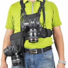 Quick Rapid Harness Double 2 Cameras Dual Shoulder Photographer Vest Belt Strap