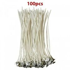 CozYours 6Inch Low Smoke and Natural Candle Wicks with Tabs, 100Pieces