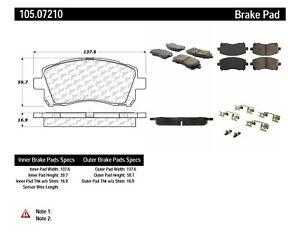 Frt Super Premium Ceramic Brake Pads  Centric Parts  105.07210