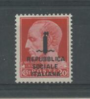RSI E LUOGOTENENZA 1944 GIULIO CESARE 2 **  CERT.