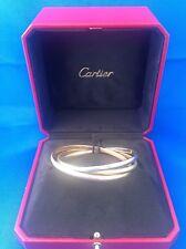 Cartier 18k Tri-Color Gold Trinity Rolling Bangle Bracelet w/Cartier Box classic