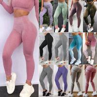 Women Seamless Yoga Pants High Waist Push Up Workout Fitness Stretch Leggings LC