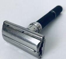 Vintage Gillette Super Adjustable 84  Black Beauty Safety Razor O-2 1969 Working