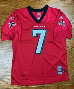 Kid's Atlanta Falcons Michael Vick #7 Red Football Jersey Sz L (14-16) NFL ATL