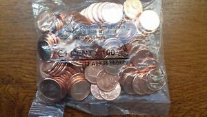 irlande 2013 sachet de 100 pièces de 1 cent (fauté dans sachet marqué 18.04.07)