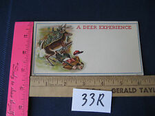 VINTAGE A DEER EXPERIENCE CARD 534 BROCHURE DEER HUNTING WITCH WINCHESTER RIFLE