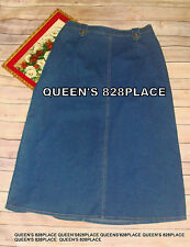 Koret City Blues Women's Size 14 Stretch Long Denim Skirt Jean Modest  C1932