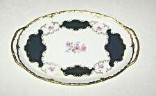 Vintage Reichenbach Porcelain East Germany Echt Kobalt Dresser Vanity Tray
