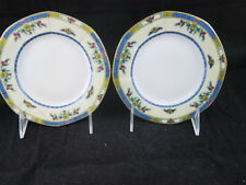 JPL J Pouyat Limoges Wanamakers Art Deco Blue Gold Antique set of 2 Bread Butter