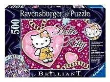 RAVENSBURGER*BRILLIANT PUZZLE + DEKOSTEINE*500 T*FUNKELNDE HELLO KITTY*OVP