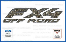 1997 - 2008 Ford FX4 Off Road Predator Camo Deception 3D Decals Stickers 4x4 set