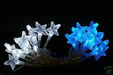 20 Blue/White Led Ice Star Battery Lights (L10)