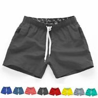 Mens Fashion Swim Shorts Plain Quick Dry Swimming Summer Beach Pool Trunks