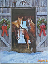 .PUZZLE.....JIGSAW.....COBANE...Horse Barn Christmas....500pc.....Sealed.