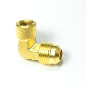 3/8 Male Flare Sae 45 to 1/8 Female Npt L Elbow Fitting Natural Gas Propane Fuel