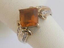 9 Carat Yellow Gold Citrine Cocktail Fine Rings