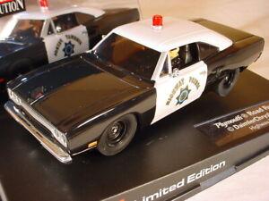Carrera Plymouth Road Runner Highway Patrol 25787 MB 1/32 slot car.