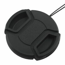 62mm Center Pinch Snap-on Front Lens Cap Hood Cover For Canon Lens With Strap