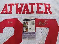 Steve Atwater signed Arkansas Razorbacks white jersey Woo Pig Souie JSA COA