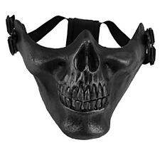Tactical Mask Protect Face Cover Skull Skeleton Paintball Half Face Mask Black