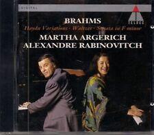 MARTHA ARGERICH (Brahms Haynd Variations - Sonatas op348 - Waltzes) CD